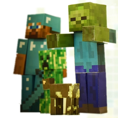 Cyberkids - Papercraft : fabrique tes personnages Minecraft